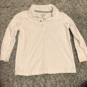 Old Navy boys White long sleeve polo